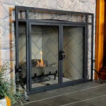 """44"""" 2-Door Fireplace Screen"""