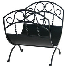 Interior Wrought Iron Scrollwork Log Rack