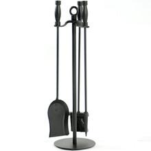 4-Piece Wrought Iron Fireplace Tool Set