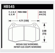 Hawk DTC FRONT Brake Pads for G35 & 350Z