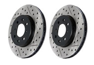 StopTech Front Drilled & Slotted Rotors (Pair) for Infiniti G37 & Nissan 370Z Sport
