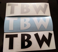 Black, White, Silver TBW Decals