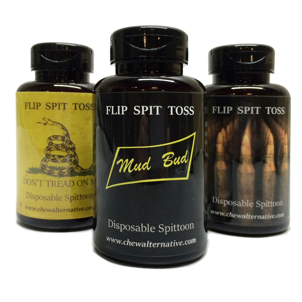 Mud Bud Disposable Spittoon 3-Pack - Don't Tread-Bullets-Black