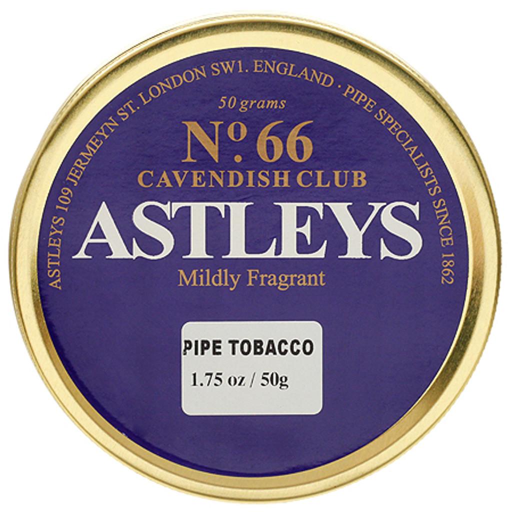 Astleys No. 66  Cavendish Club Pipe Tobacco | 1.75 OZ TIN