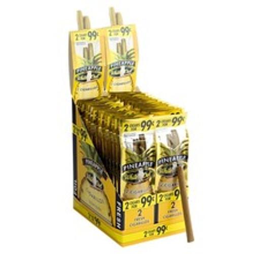 White Owl Cigarillos Pineapple Cigars (30 Packs of 2) - Natural
