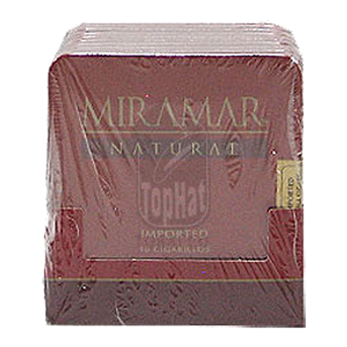 Miramar Natural Cigarillo - 3 1/4 X 20 (10 Tins of 10)