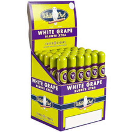 White Owl Blunts Xtra White Grape Tube Cigars (Upright box of 30) - Natural