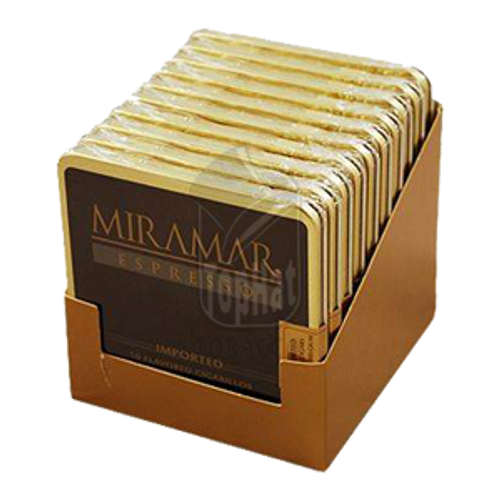 Miramar Espresso Cigarillo - 3 1/4 X 20 (10 Tins of 10)