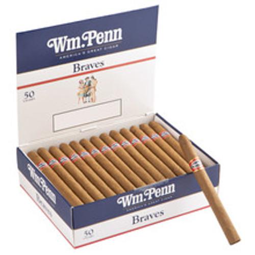 William Penn Brave Cigars (Box of 50 - Natural