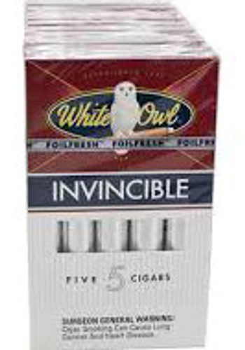 White Owl Invincible Cigars (10 Packs Of 5) - Natural