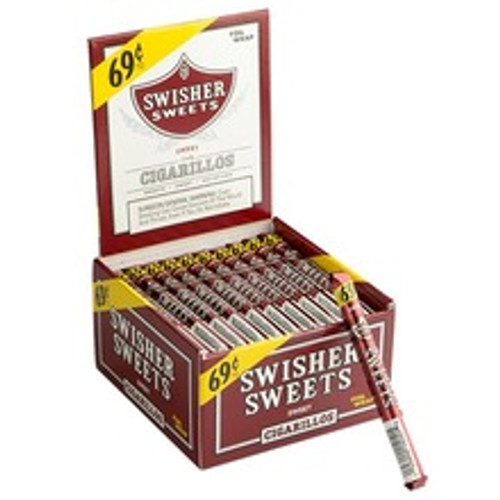Swisher Sweets Cigarillos Original Cigars (Box of 60) - Natural