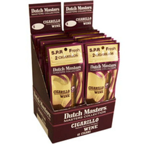 Dutch Masters Cigarillos Wine Cigars (20 packs of 3) - Natural