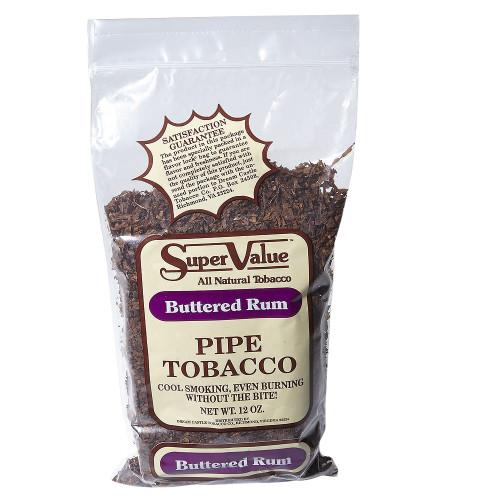 Super Value Buttered Rum Pipe Tobacco | 12 OZ BAG