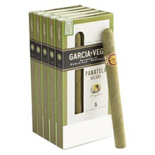 Garcia Y Vega Panatela Deluxe Cigars (5 Packs Of 5) - Candela