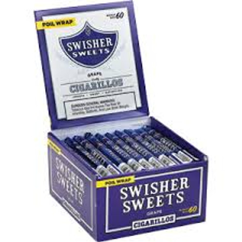 Swisher Sweets Cigarillos Grape Cigars (Box of 60) - Natural