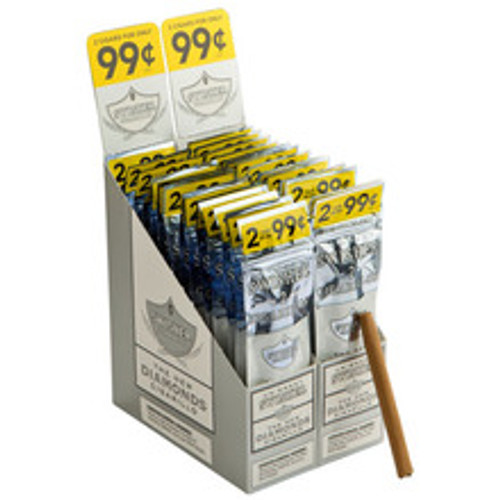 Swisher Sweets Cigarillos Mini Diamond Cigars (15 Packs of 3) - Natural