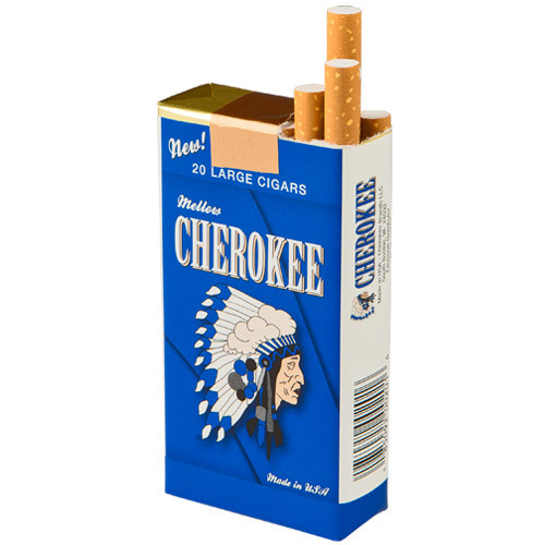 Cherokee Filtered Mellow Cigars (10 Packs of 20) - Natural