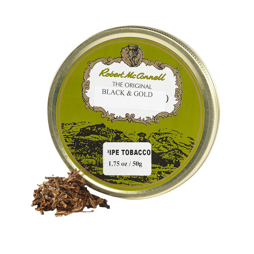 McConnell's Black and Gold Pipe Tobacco | 1.75 OZ TIN