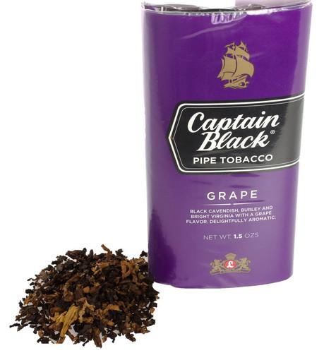 Captain Black Grape Pipe Tobacco   1.5oz POUCH  - 6 COUNT