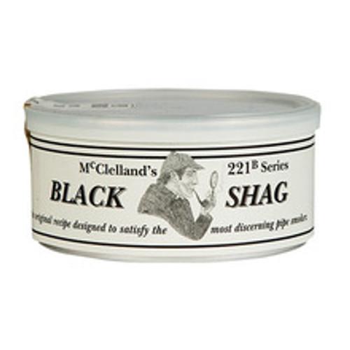 McClelland Black Shag Pipe Tobacco | 1.75 OZ TIN