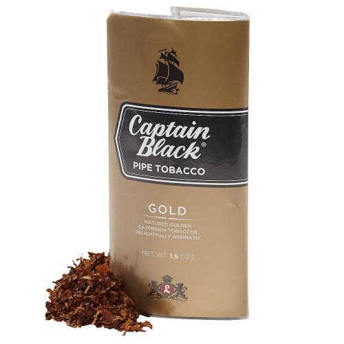 Captain Black Gold Pipe Tobacco   1.5 OZ POUCH - 6 COUNT