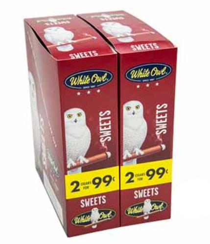 White Owl Cigarillos Sweets Cigars (30 Packs of 2) - Natural