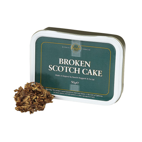 Gawith & Hoggarth Broken Scotch Cake Pipe Tobacco | 1.75 OZ TIN