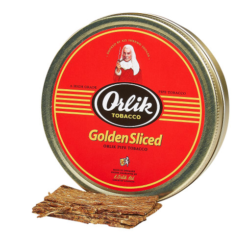 Orlik Golden Sliced Pipe Tobacco | 1.75 OZ TIN