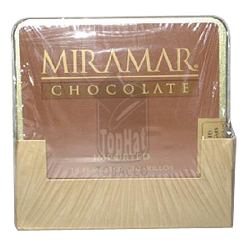 Miramar Chocolate Cigarillo - 3 1/4 X 20 (10 Tins of 10)