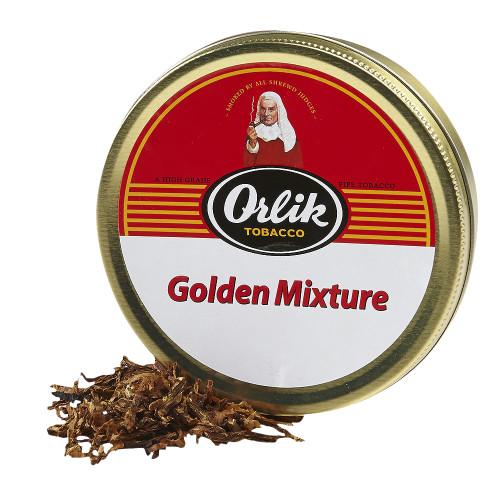 Orlik Golden Mixture Pipe Tobacco | 1.75 OZ TIN