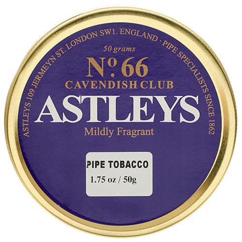 Astleys No. 66  Cavendish Club Pipe Tobacco | 1.75 OZ TIN