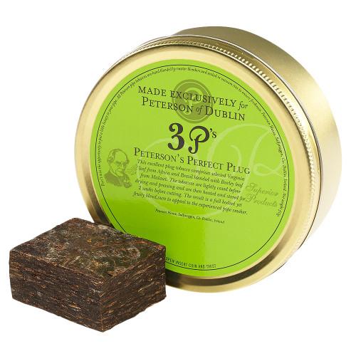 Peterson 3 P's Perfect Plug Pipe Tobacco | 1.75 OZ TIN