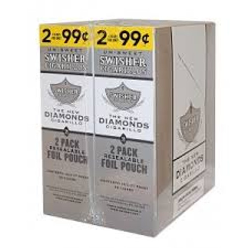 Swisher Sweets Cigarillos Diamond Cigars (30 Packs of 2) - Natural
