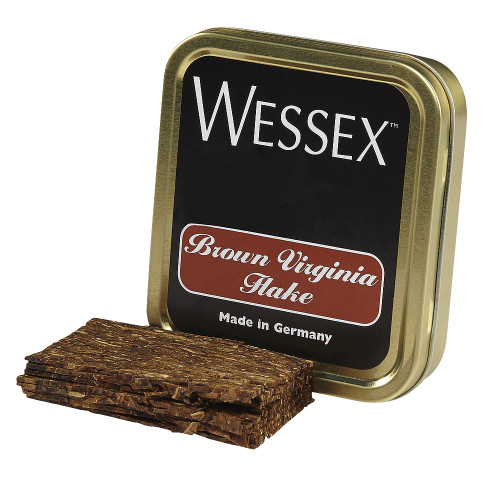 Wessex Brown Virginia Flake Pipe Tobacco | 1.75 OZ TIN
