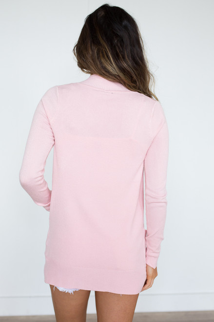 Down By The Bay Knit Cardigan - Pink - FINAL SALE