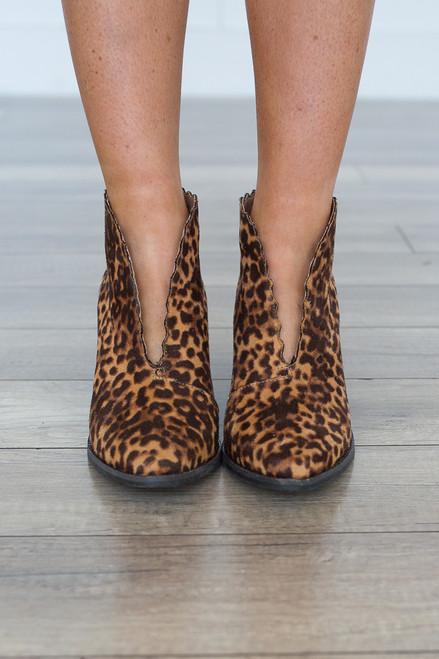 Coconuts By Matisse: Adalyn Leopard Bootie - Tan - FINAL SALE