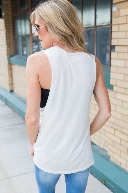 Love What You Do Graphic Tank - Cream - FINAL SALE