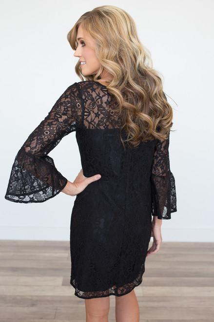 BB Dakota: Billie Lace Dress – Black - FINAL SALE