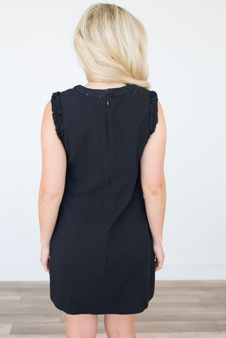 At Last Textured Dress - Black - FINAL SALE