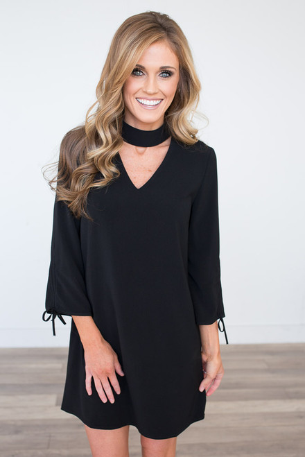 Heartbreaker Choker Dress - Black  - FINAL SALE