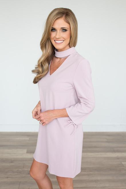 Heartbreaker Choker Dress - Blush -  FINAL SALE