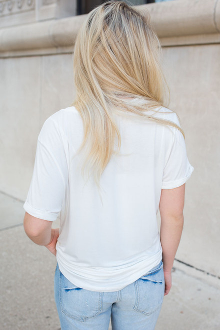 Small Town Girl Tee - Ivory - FINAL SALE