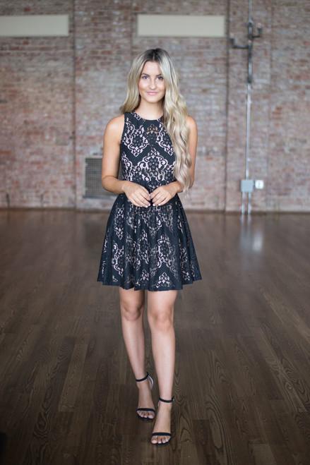 Monte Carlo Lace Dress - Black - FINAL SALE
