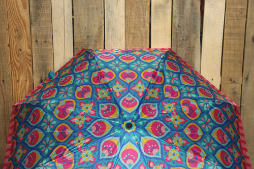 Floral Print Umbrella - Pink Multi - FINAL SALE