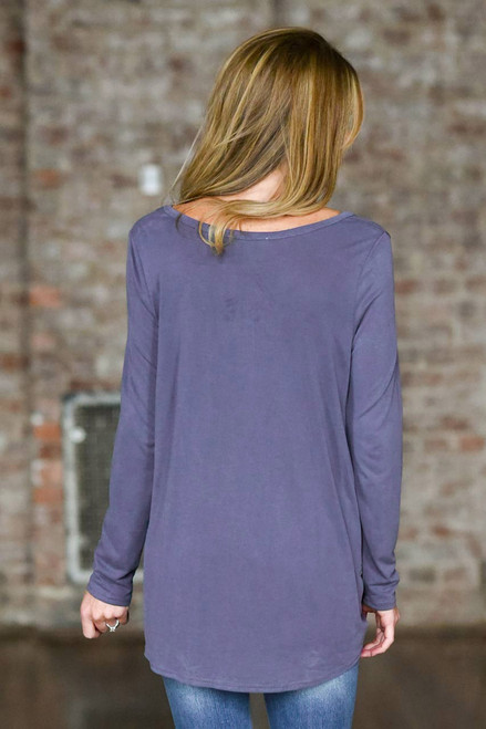 Keyhole Twisted Knot Top - Dusty Amethyst  - FINAL SALE
