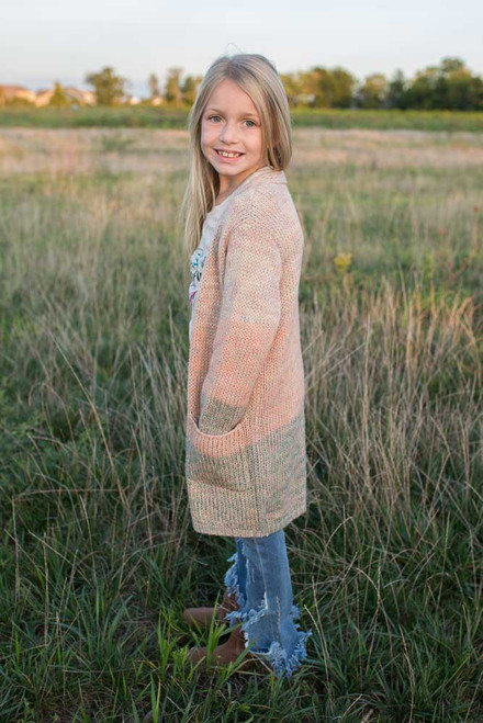 Kids Pastel Ombre Cardigan - Multi - FINAL SALE
