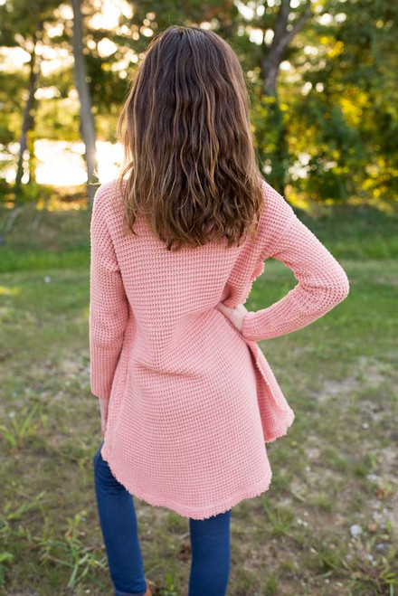 Kids Shoulder Detail Sweater - Papaya - FINAL SALE