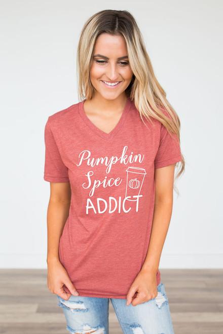 Pumpkin Spice Addict Tee - Spiced Orange - FINAL SALE