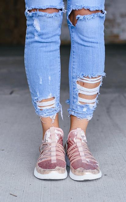 Velvet Crush Sneaker - Blush