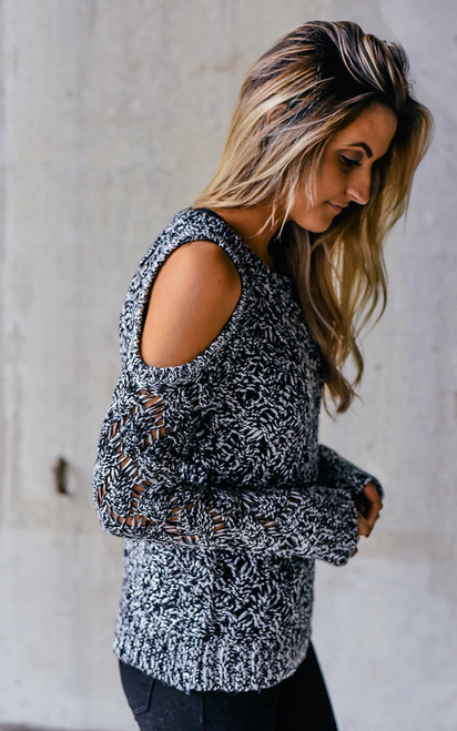 BB Dakota Bernette Sweater - Black/White